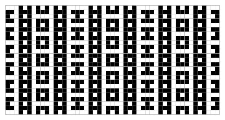Snug: a free mosaic knitting stitch pattern