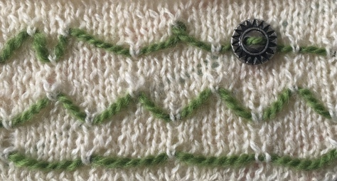 Swatch from Decorative Knitting