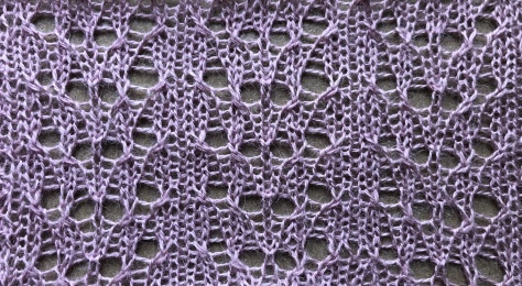 Alice: a free lace knitting stitch pattern, by Naomi Parkhurst (swatch photo)
