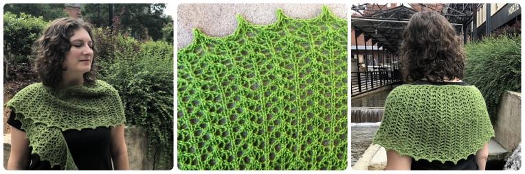 Arrowleaf, a crescent shawl by Naomi Parkhurst