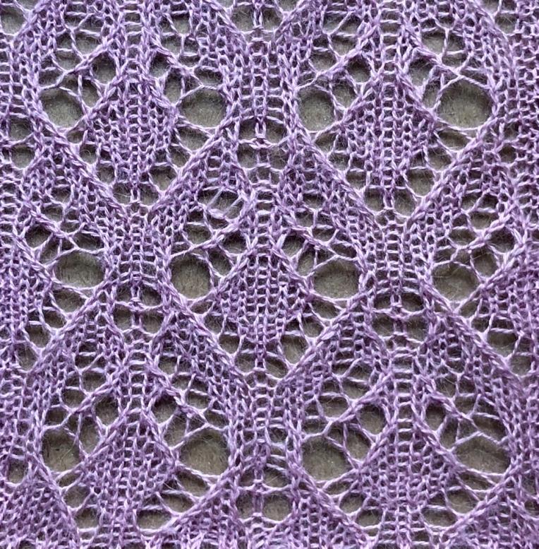 Summery: a free lace knitting stitch pattern