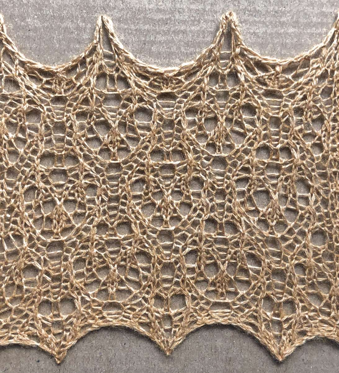 Typo: a free lace knitting stitch pattern, by Naomi Parkhurst