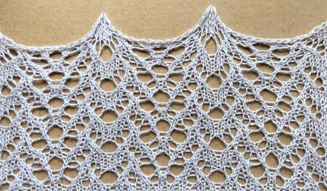Lucky: a free lace knitting stitch pattern by Naomi Parkhurst