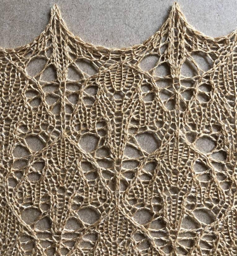 Plangent: a free lace knitting stitch pattern, by Naomi Parkhurst