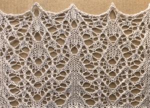 Ginger : a free lace knitting stitch pattern
