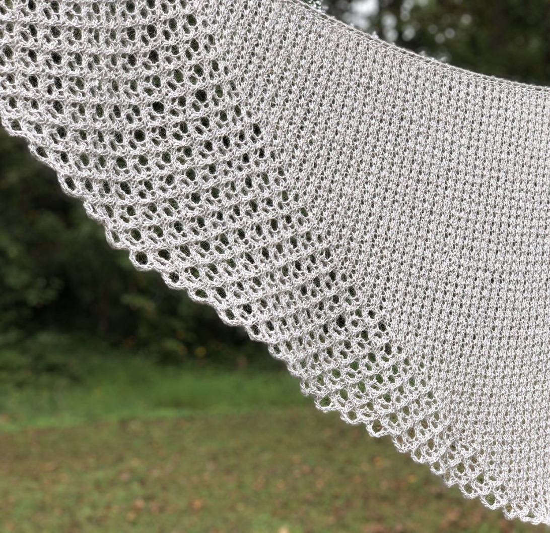 Lacymmetry: an asymmetrical triangle shawl