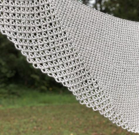 Lacymmetry: an asymmetrical triangle shawl