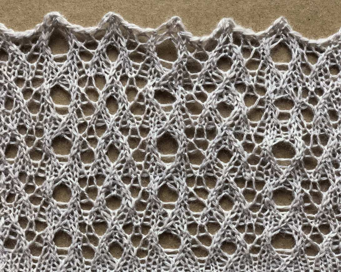 Ply: a free lace knitting stitch pattern, by Naomi Parkhurst