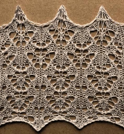 Rune: a free lace knitting stitch pattern, by Naomi Parkhurst