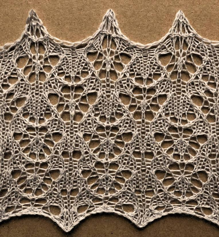 Rune: a free lace knitting stitch pattern, by Naomi Parkhurst