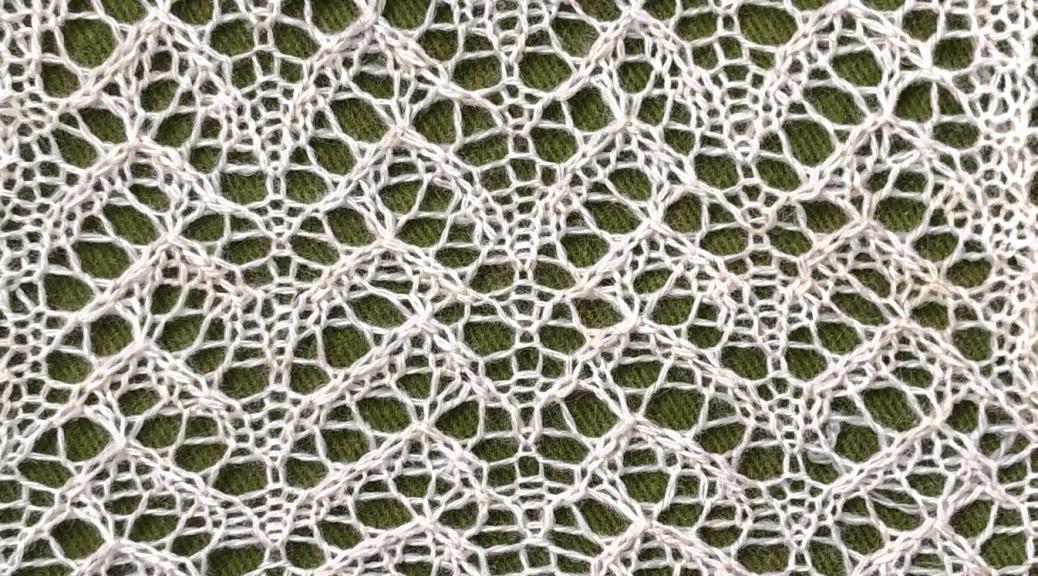 Bergamot excerpt: a free lace knitting stitch pattern, by Naomi Parkhurst