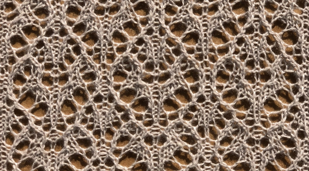 Bergamot: a free lace knitting stitch pattern, by Naomi Parkhurst