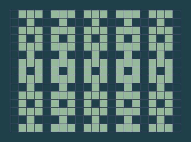 Chains: a free mosaic knitting stitch pattern, by Naomi Parkhurst