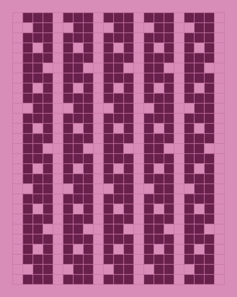 Dorothy: a free mosaic knitting stitch pattern, by Naomi Parkhurst