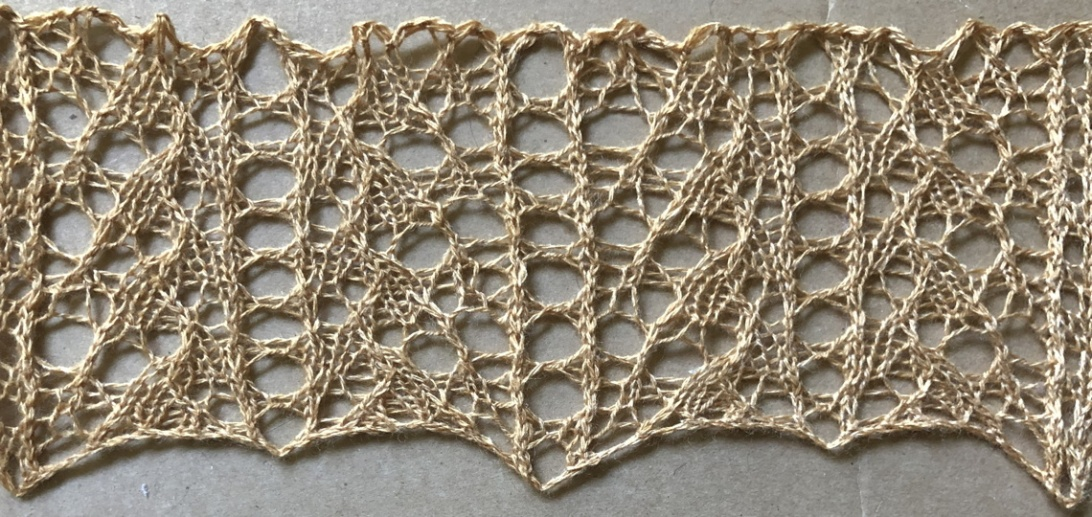 Charisma: a free lace knitting stitch pattern, by Naomi Parkhurst