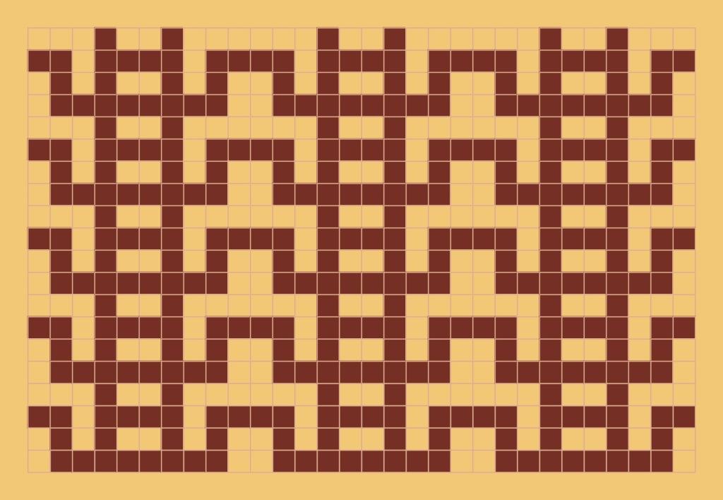 Ladders: a free mosaic knitting chart, by Naomi Parkhurst