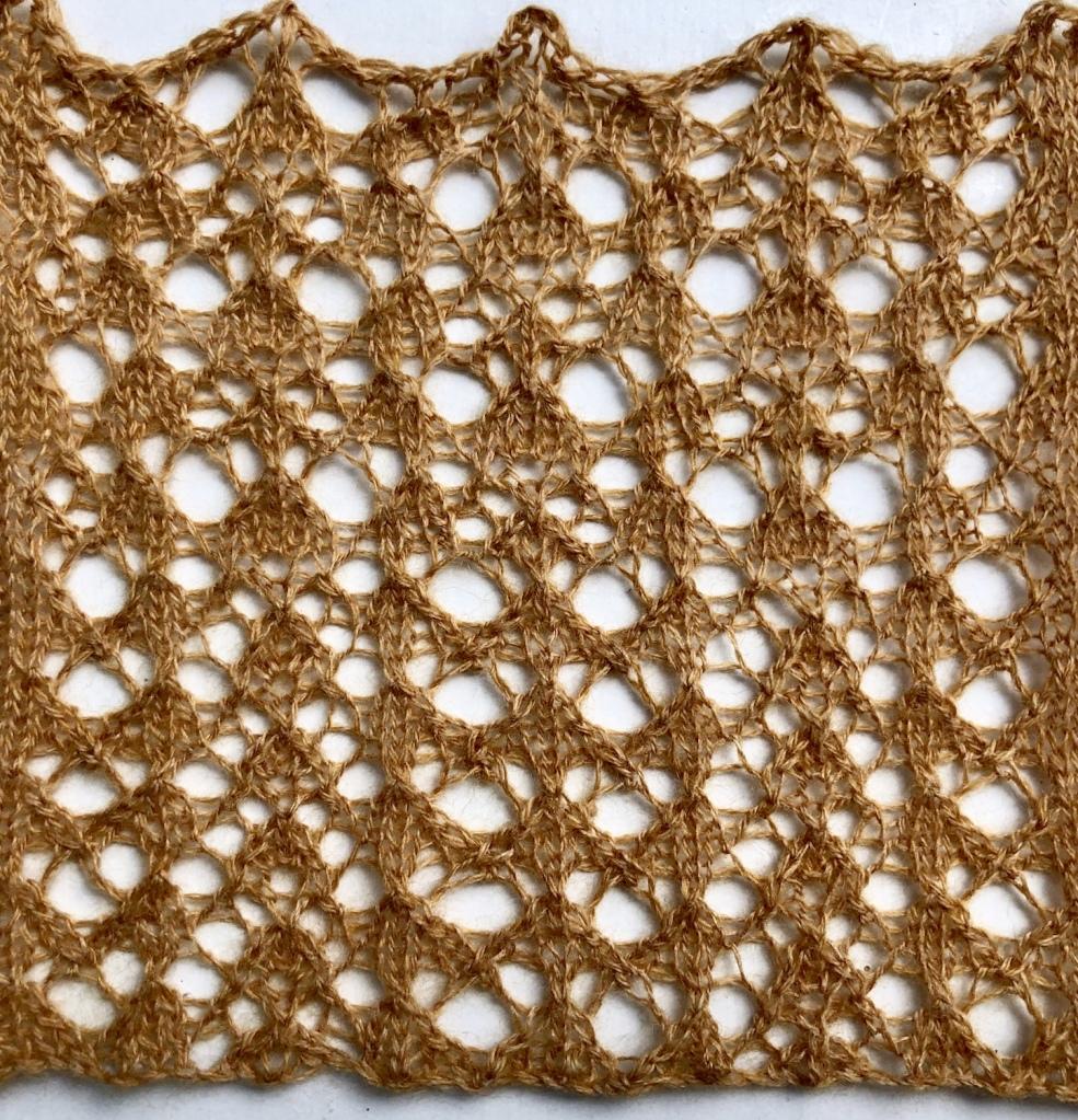 Bird: a free lace knitting stitch pattern, by Naomi Parkhurst