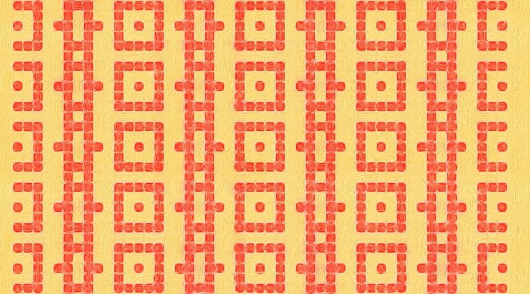 Bird: a free mosaic knitting stitch pattern, by Naomi Parkhurst