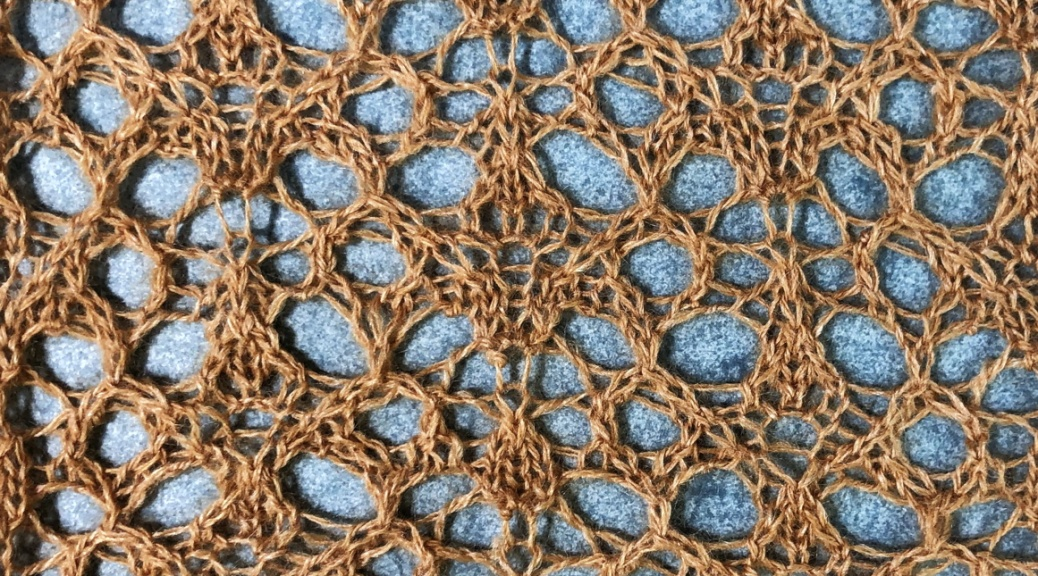 Cariad lace: a free lace knitting stitch pattern, by Naomi Parkhurst