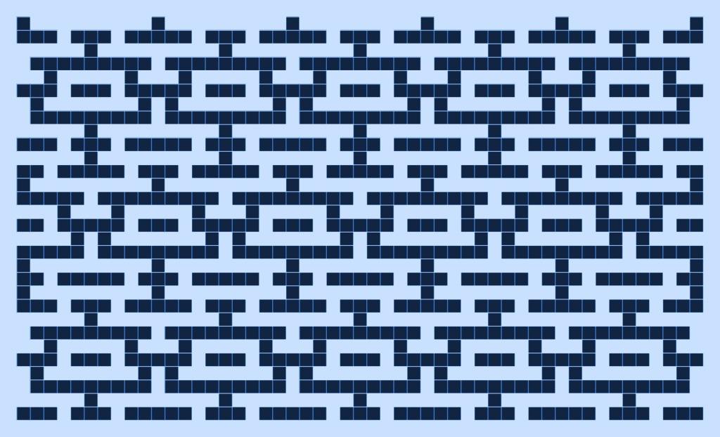 Water version 2: a free mosaic knitting stitch pattern, by Naomi Parkhurst