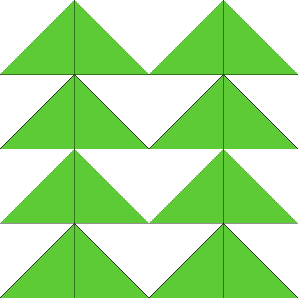The rectangles have been repeated the way a stitch pattern is, so that the triangles make a repeating pattern.