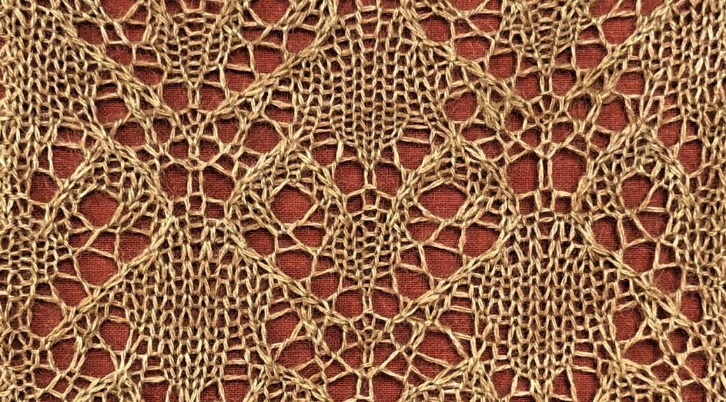 Stricken: a free lace knitting stitch pattern, by Naomi Parkhurst
