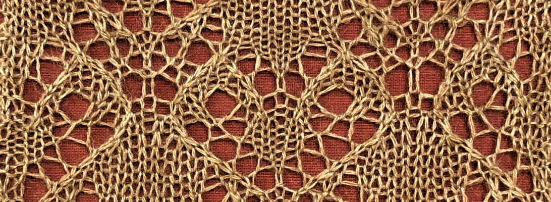 Stricken: a free lace knitting stitch pattern, by Naomi Parkhurst