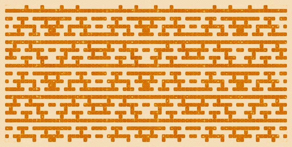 Autumn: a mosaic knitting chart, by Naomi Parkhurst