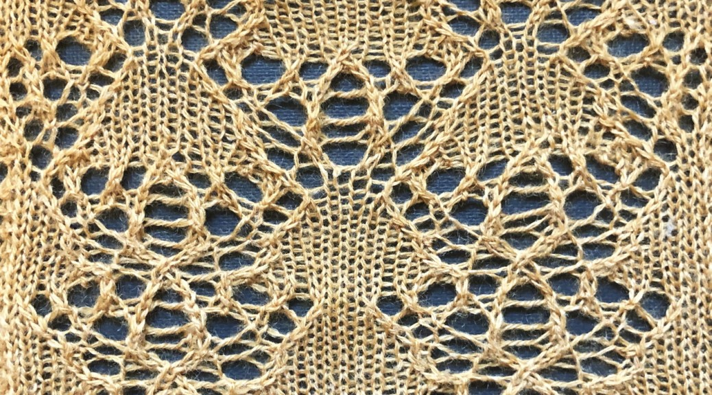 Harvest: a lace knitting stitch pattern, by Naomi Parkhurst