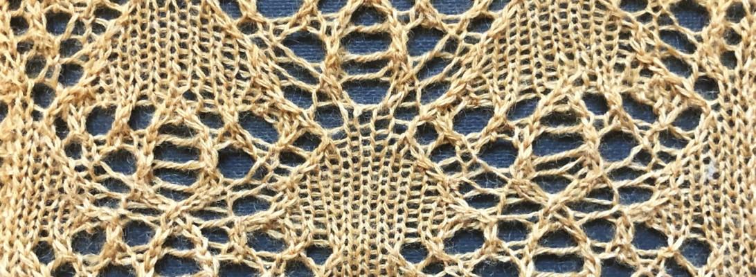 Harvest: a lace knitting stitch pattern, by Naomi Parkhurst