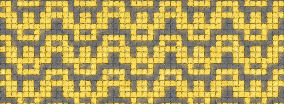 Honey: a mosaic knitting chart, by Naomi Parkhurst