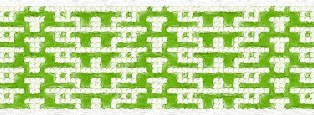 Green: a mosaic knitting stitch pattern, by Naomi Parkhurst (sample image)