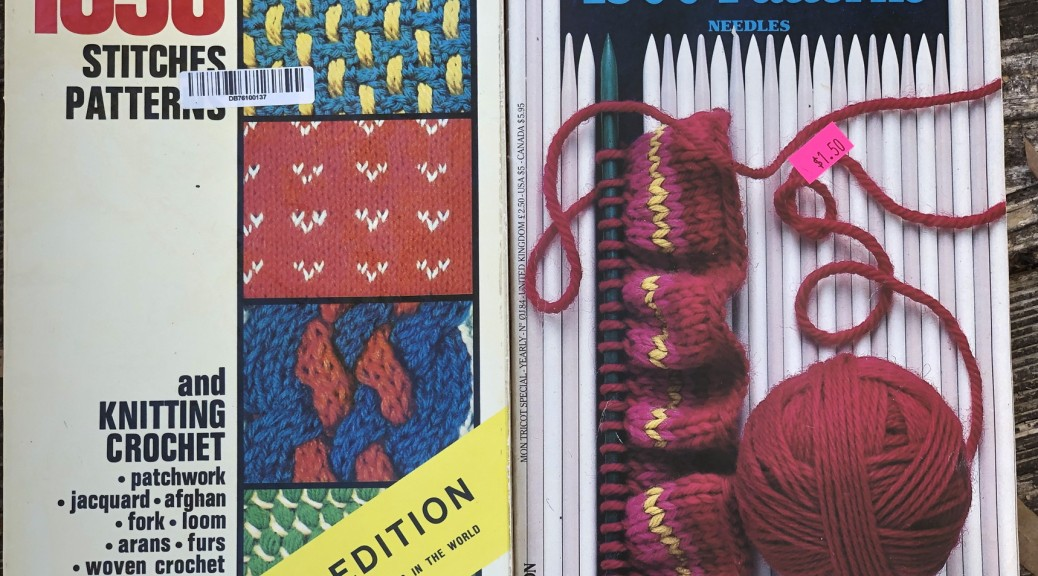 Mon Tricot's 'Knitting Dictionary: 1030 Stitches Patterns' and 'Knitting Encyclopedia: 1500 Patterns'