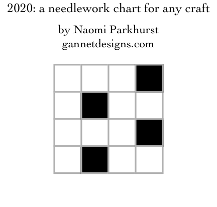 2020: a needlework chart for any craft, by Naomi Parkhurst