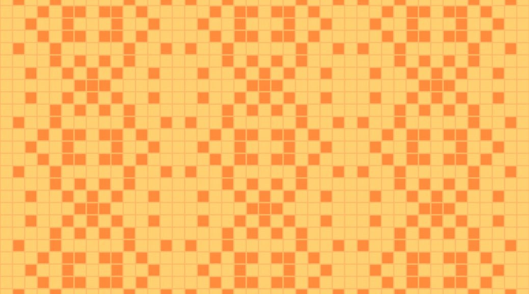 Pumpkin: a needlework chart for any craft, by Naomi Parkhurst (sample image)