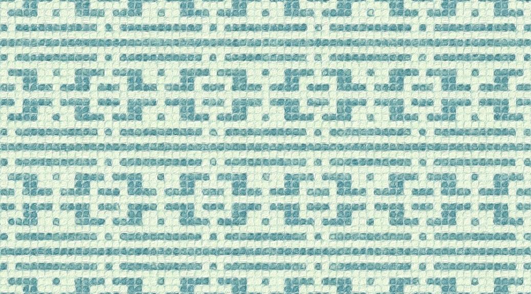 Rain: a mosaic knitting chart, by Naomi Parkhurst (sample image)