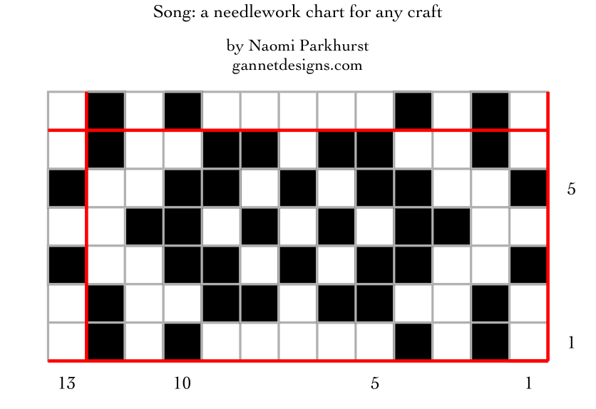 chart image for Song: a needlework pattern for any craft, by Naomi Parkhurst