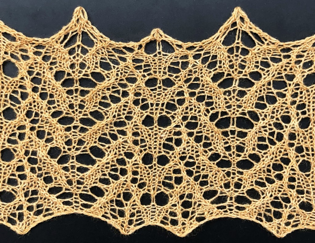 sample photo for Vincible: a lace knitting stitch pattern, by Naomi Parkhurst