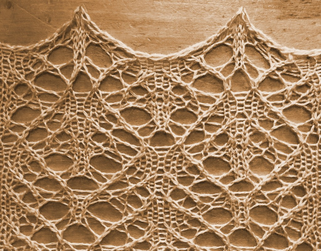 sample image for Gansey: a lace knitting stitch pattern, by Naomi Parkhurst