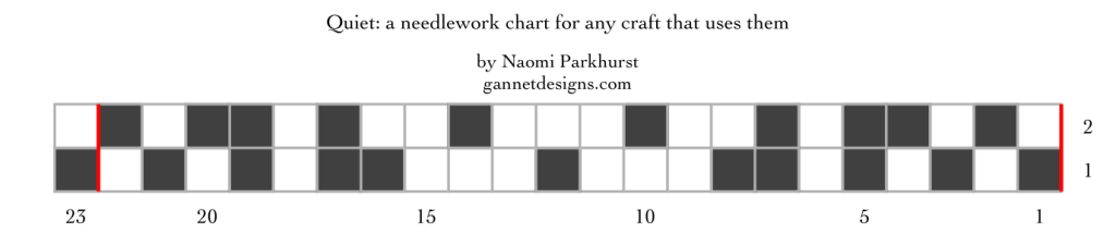 chart for Quiet: a needlework chart for any craft, by Naomi Parkhurst