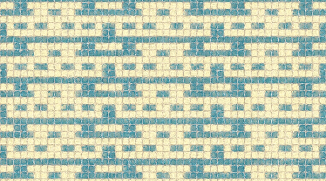 sample image for Blue: a mosaic knitting chart, by Naomi Parkhurst