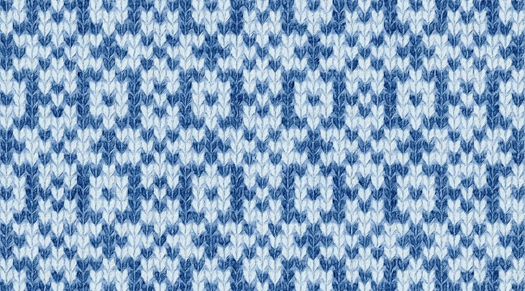 sample image for Blue: a needlework chart for any craft, by Naomi Parkhurst