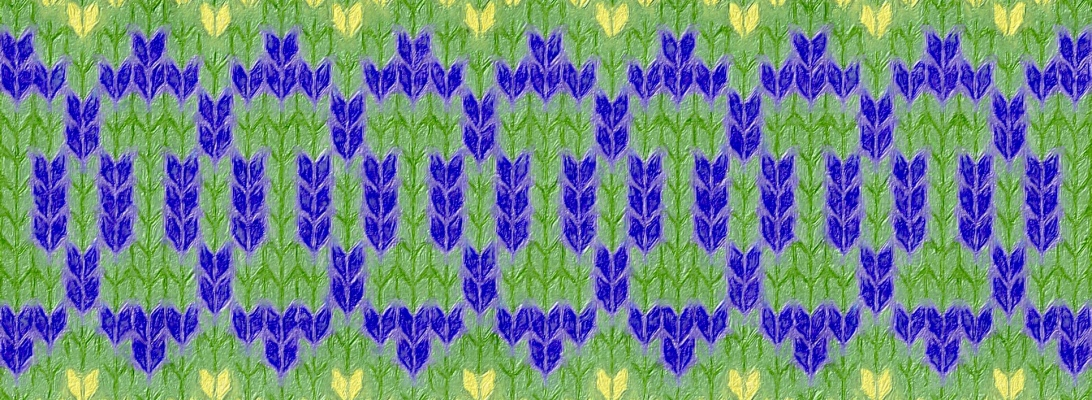 example image for Iris: a needlework chart for any craft, by Naomi Parkhurst