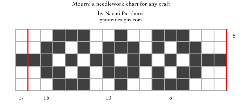 Mourn: a needlework chart for any craft, by Naomi Parkhurst