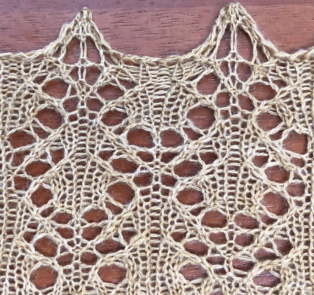 photo of Water lace knitted sample