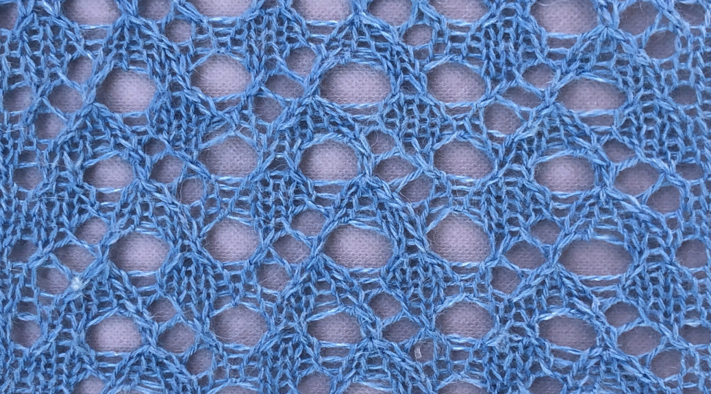 knitted lace sample for bake lace from what is usually called the front