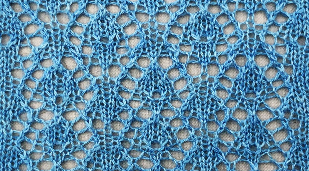 Photo of knitted sample of Junco lace.