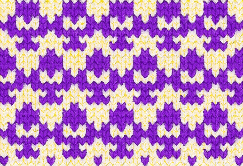 image showing how Crocus needlework might look as stranded knitting