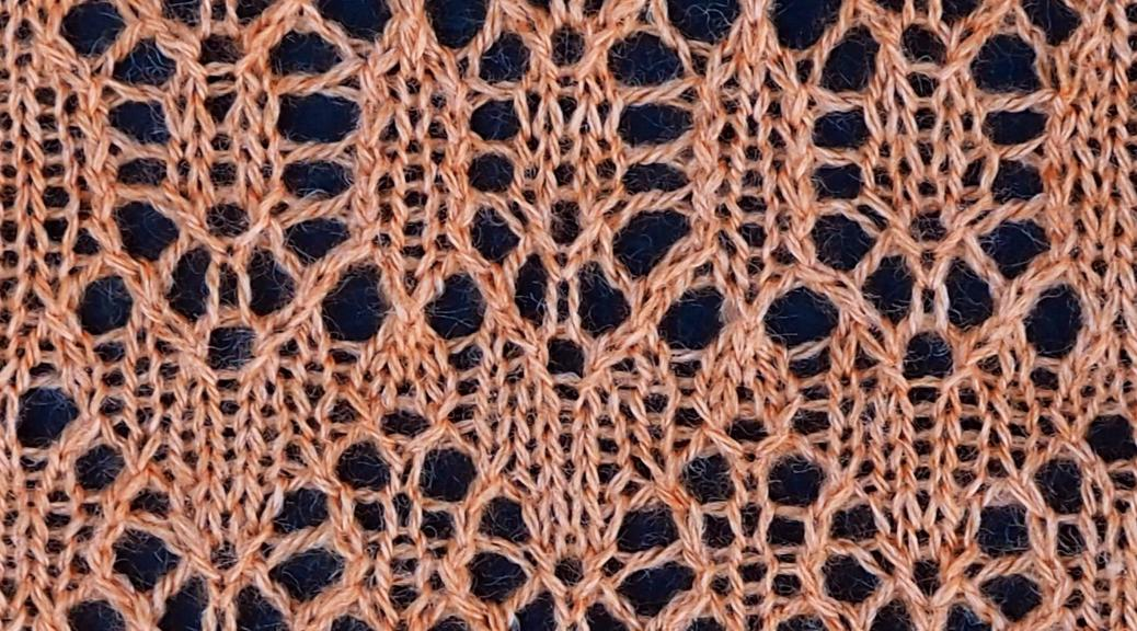 knitted sample for Time lace