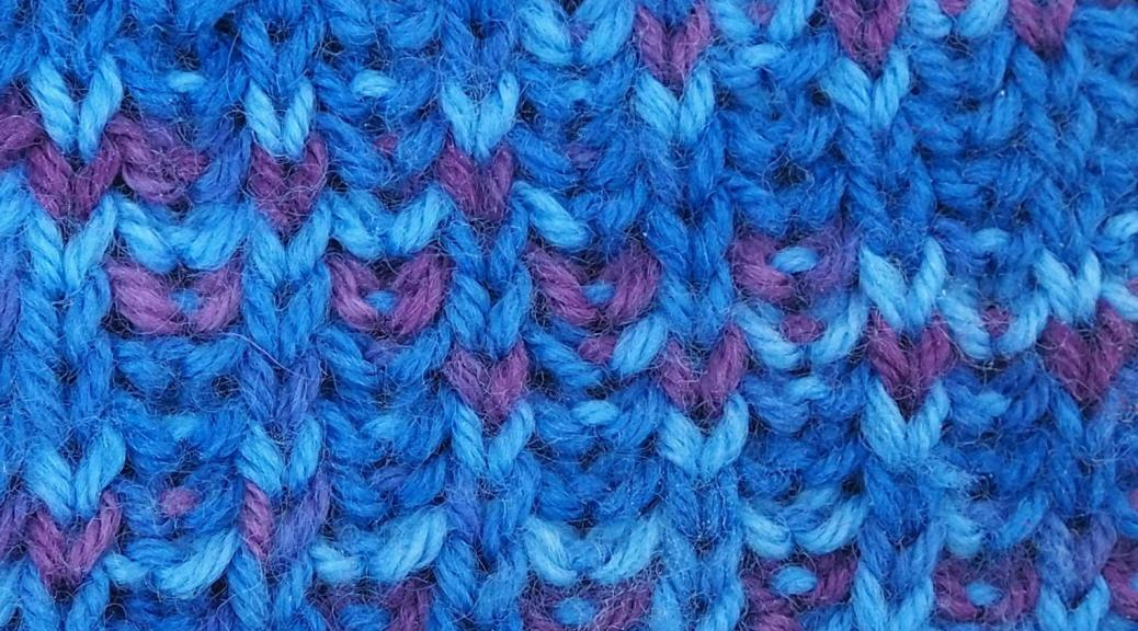 knitted sample of flat brioche